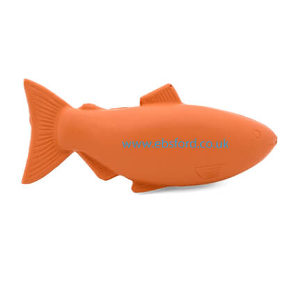 Salmon fish shaped stress ball back view