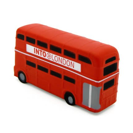 Double Decker London Bus Side View