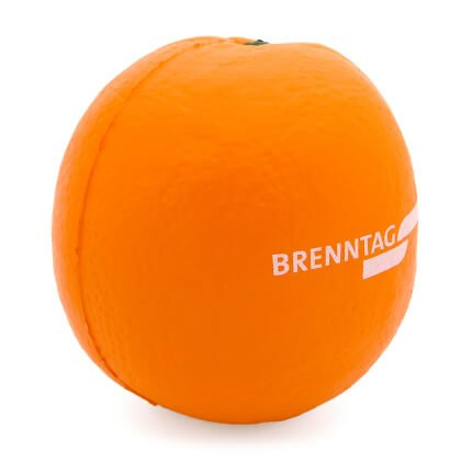 Orange Stress Ball Side View