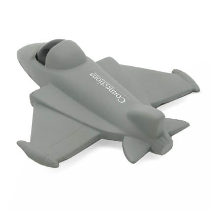 Fighter Jet Stress Ball Rear View