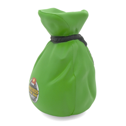 Money Bag Stress Ball Side View