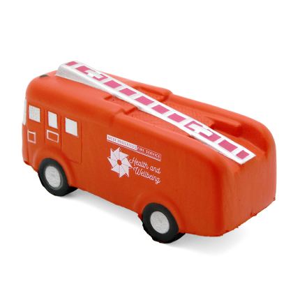 Fire Engine Stress Ball Side View