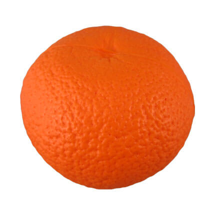Orange fruit stress ball shape back view