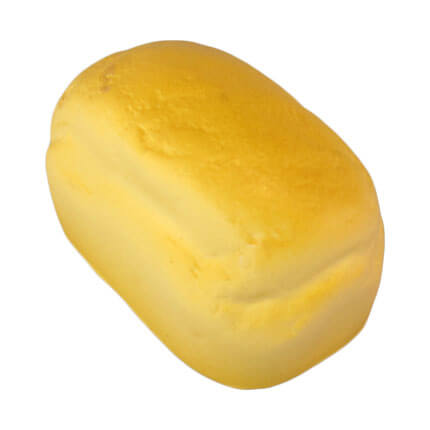 Bread loaf shaped stress ball