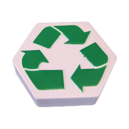 Recycle stress toy shape
