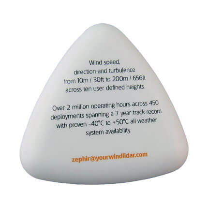 Pyramid shape stress ball base print area