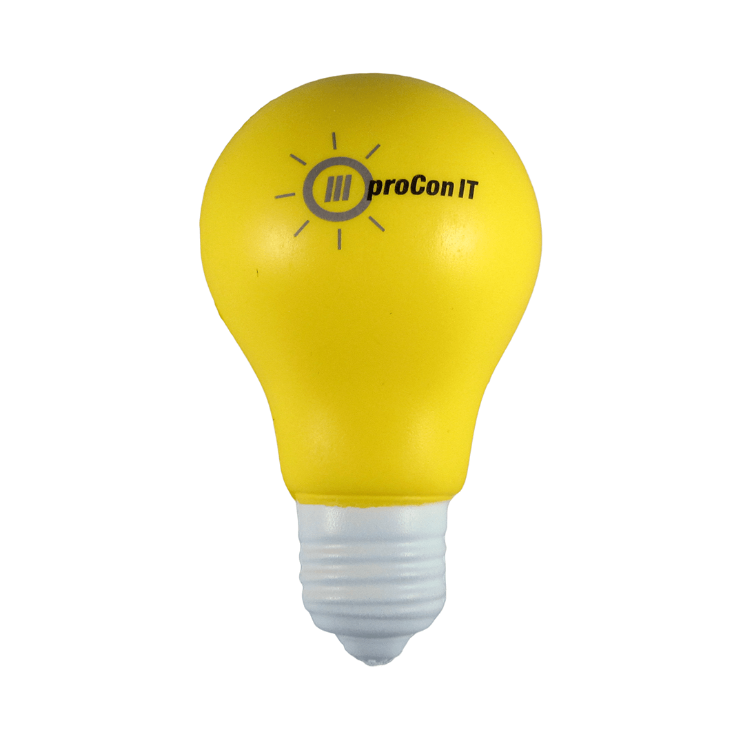 Light Bulb Yellow Front View