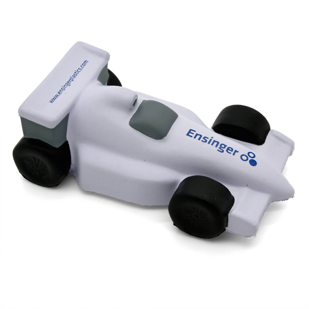 Stress Racing Car in White Side View