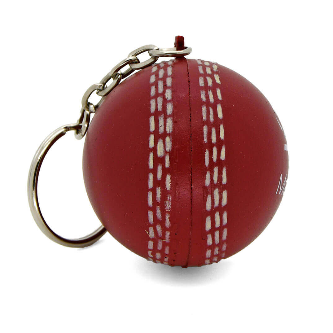 Stress Cricket Ball Keyring Seam