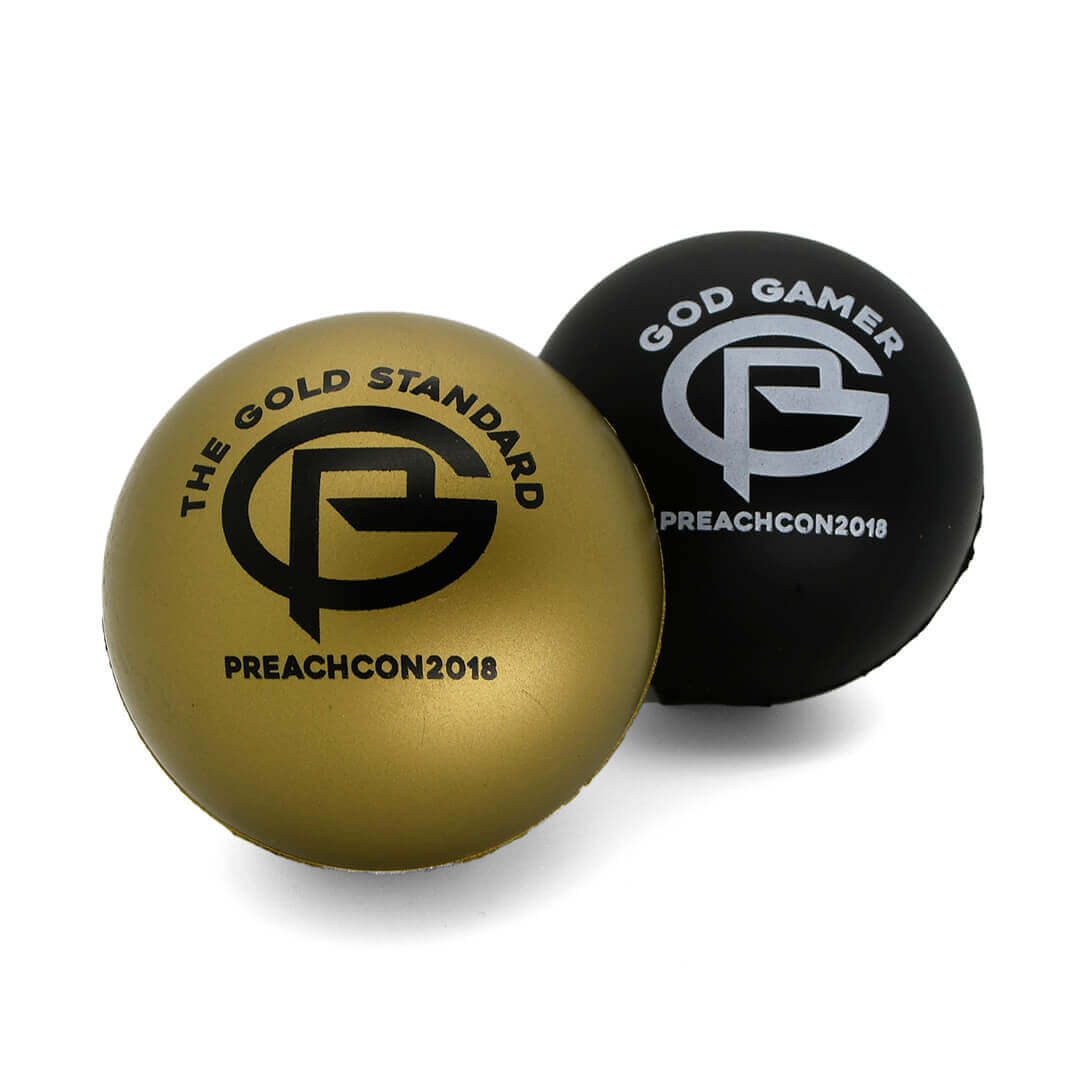 Black and Gold 70mm Stress Balls