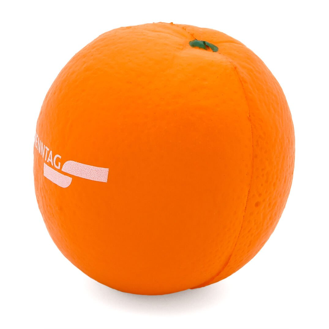 Orange Stress Ball Rear View