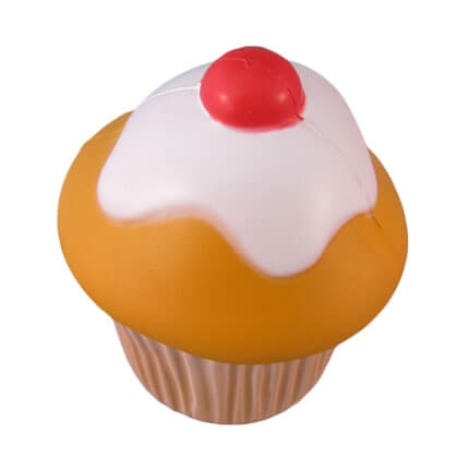 Cupcake stress toy with cherry