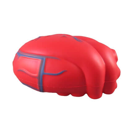 Heart shaped stress toy side view