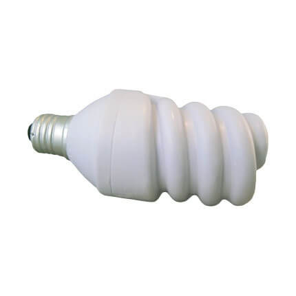 Energy saving light bulb stress ball shape back view