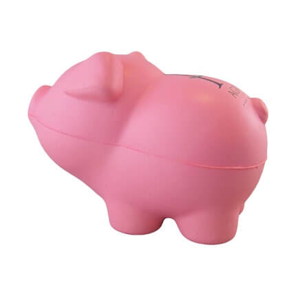 Pig stress toy shape side view