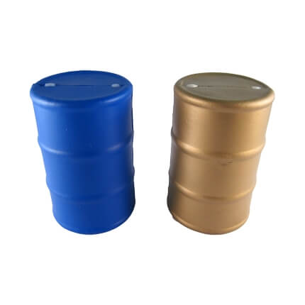 Blue and Gold Stress Oil Drums