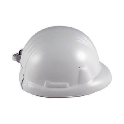 Hard Hats Keyrings White