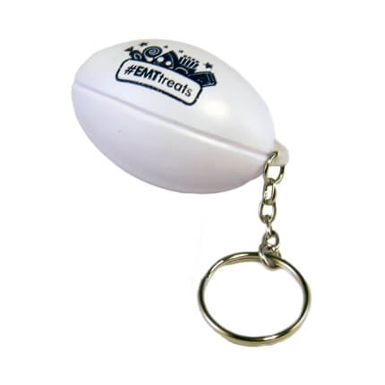 Rugby Keyring with Keychain