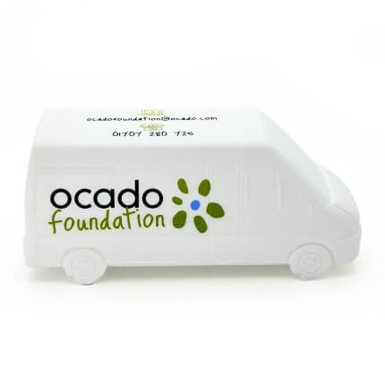 Ocado Printed Stress Van Side