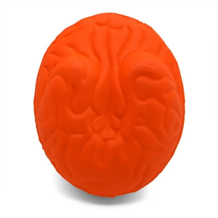 Large brain stress ball shape underside view