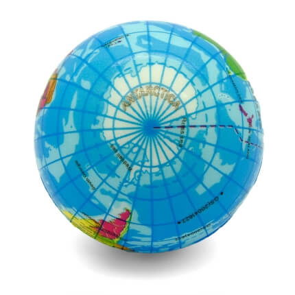 Globe Atlas Stress Ball Top View Antarctic