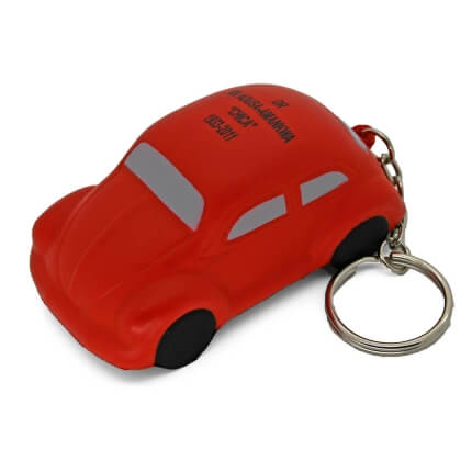 Red VW Beetle Keyring Stress Ball