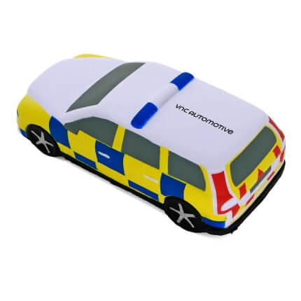 Police Car Shaped Stress Ball Rear View