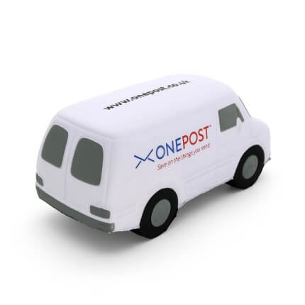 White Van Stress Ball Rear View
