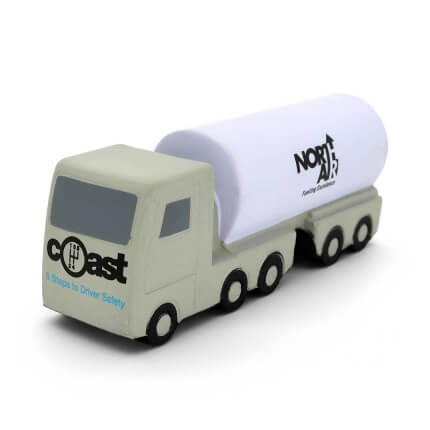 Oil Tanker Truck Stress Ball Front View