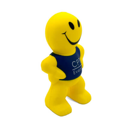 Smiley Man Stress Ball Side View