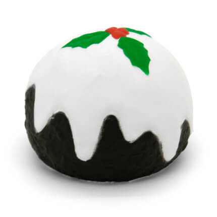 Christmas Pudding Stress Ball Rear View