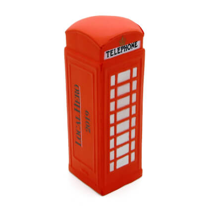 Telephone Box Stress Ball Side View