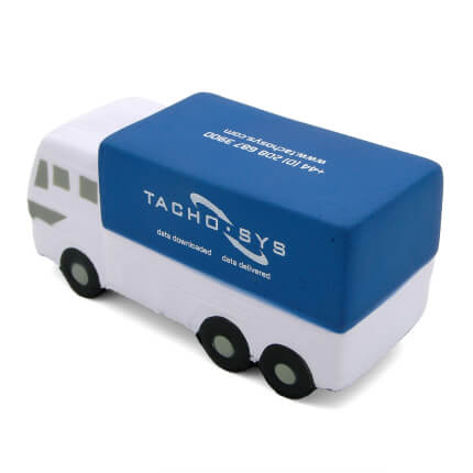 Blue Truck Lorry Stress Ball Rear View
