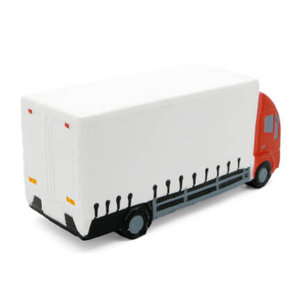 Lorry Stress Ball with Red Cab Rear View