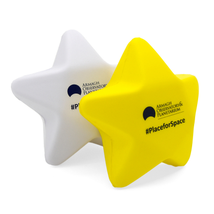 Yellow And White Star Stress Balls