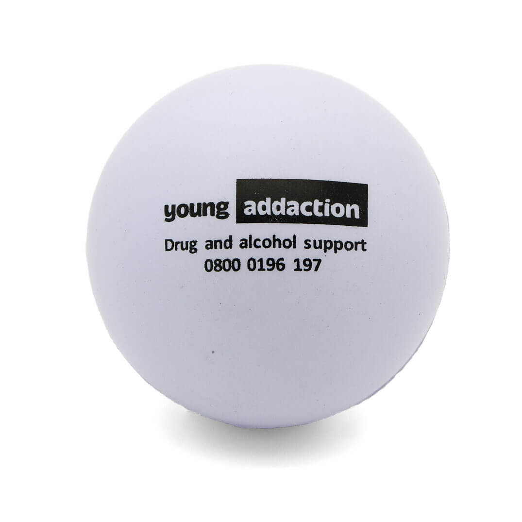 Young Addaction 60mm White Stress Ball