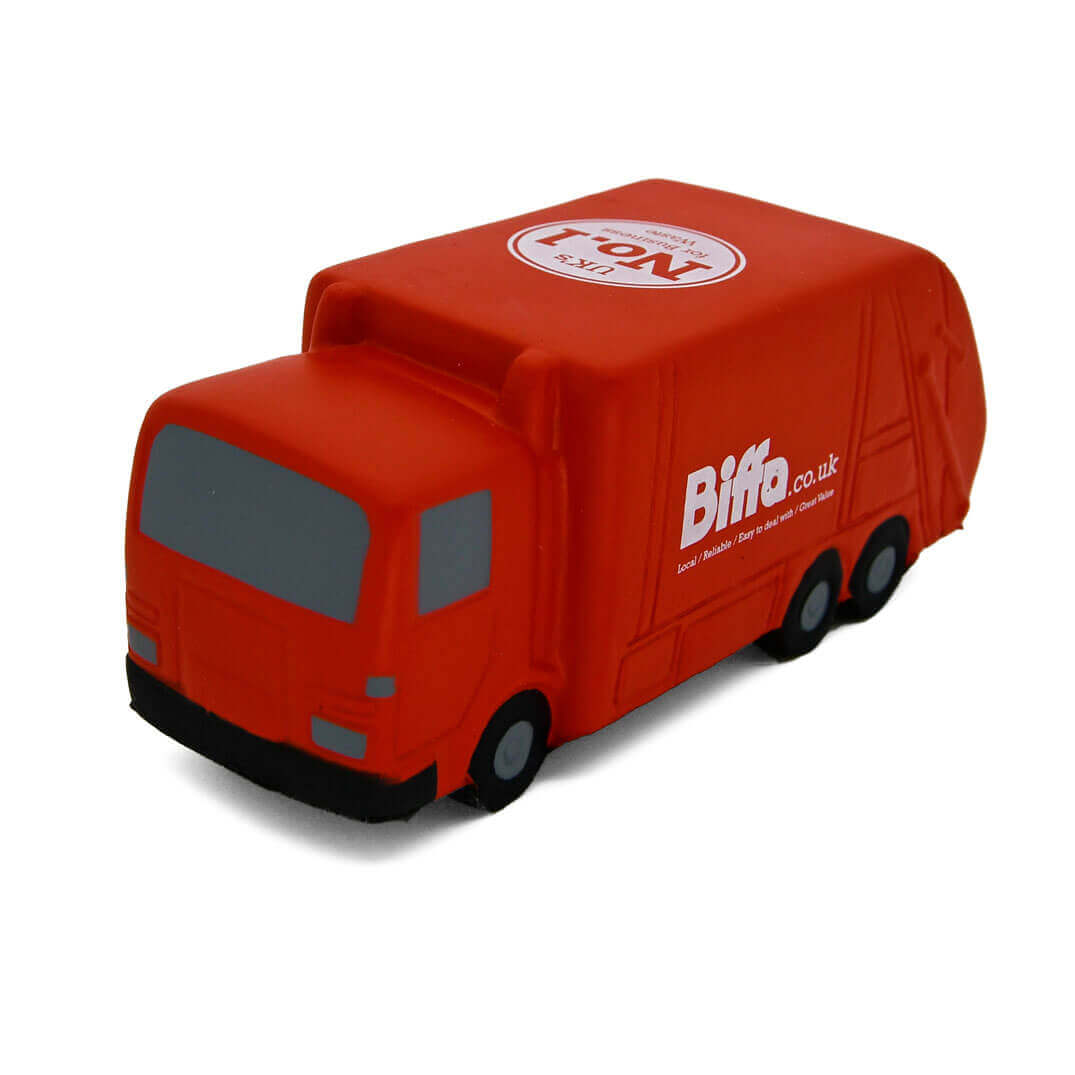 Red Biffa Stress Recycling Lorry Front View