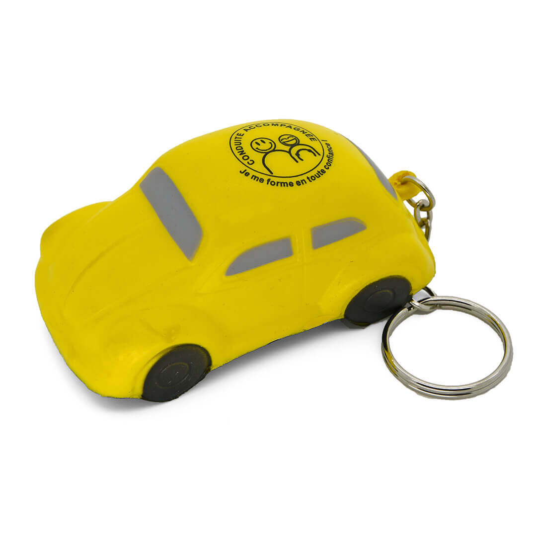 Yellow VW Beetle Keyring Stress Ball