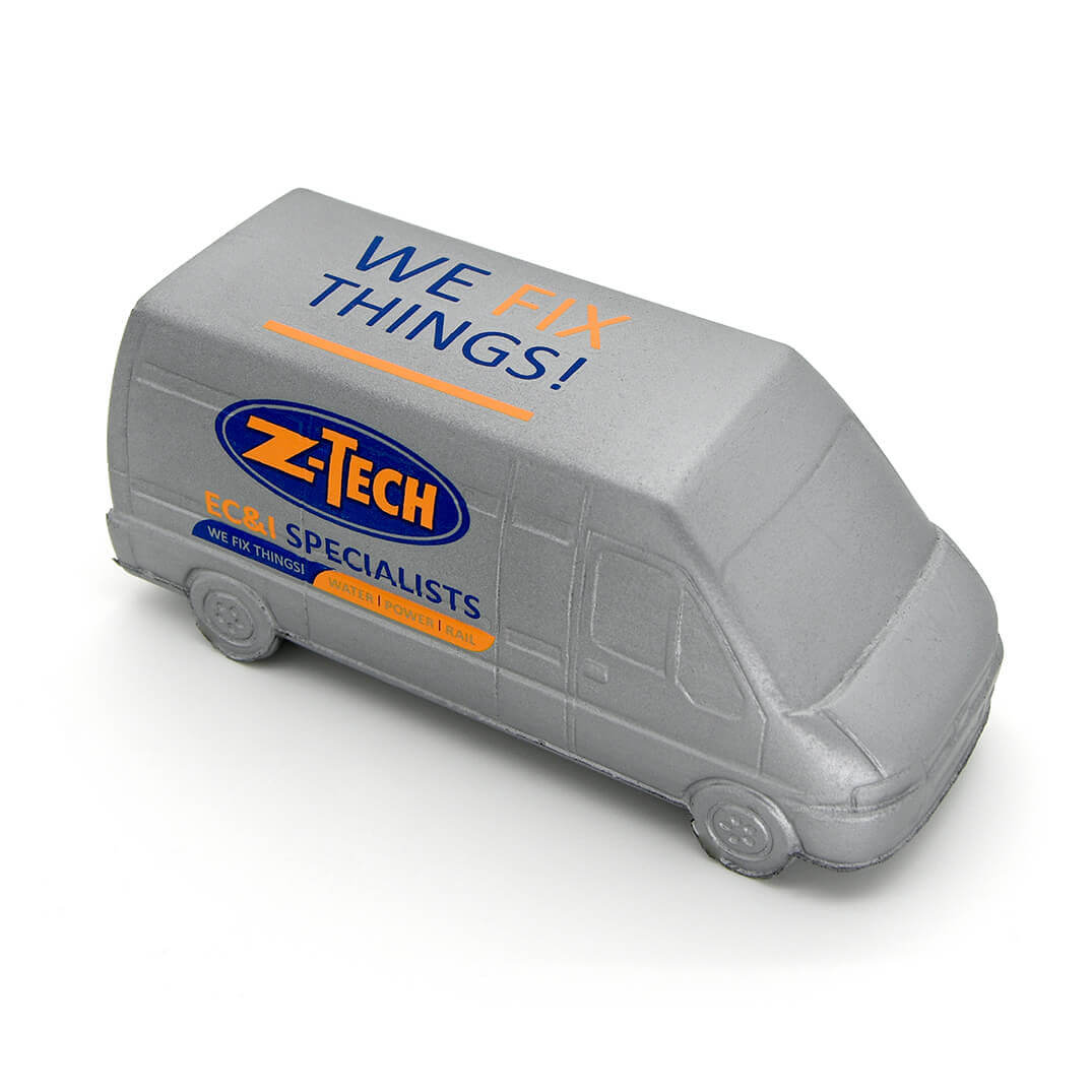 Silver Van Stress Ball Side View