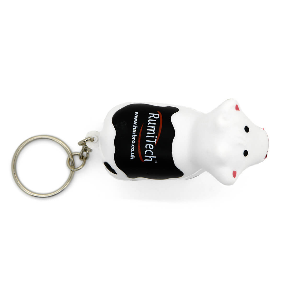 Stress Cow Keyring Aerial View