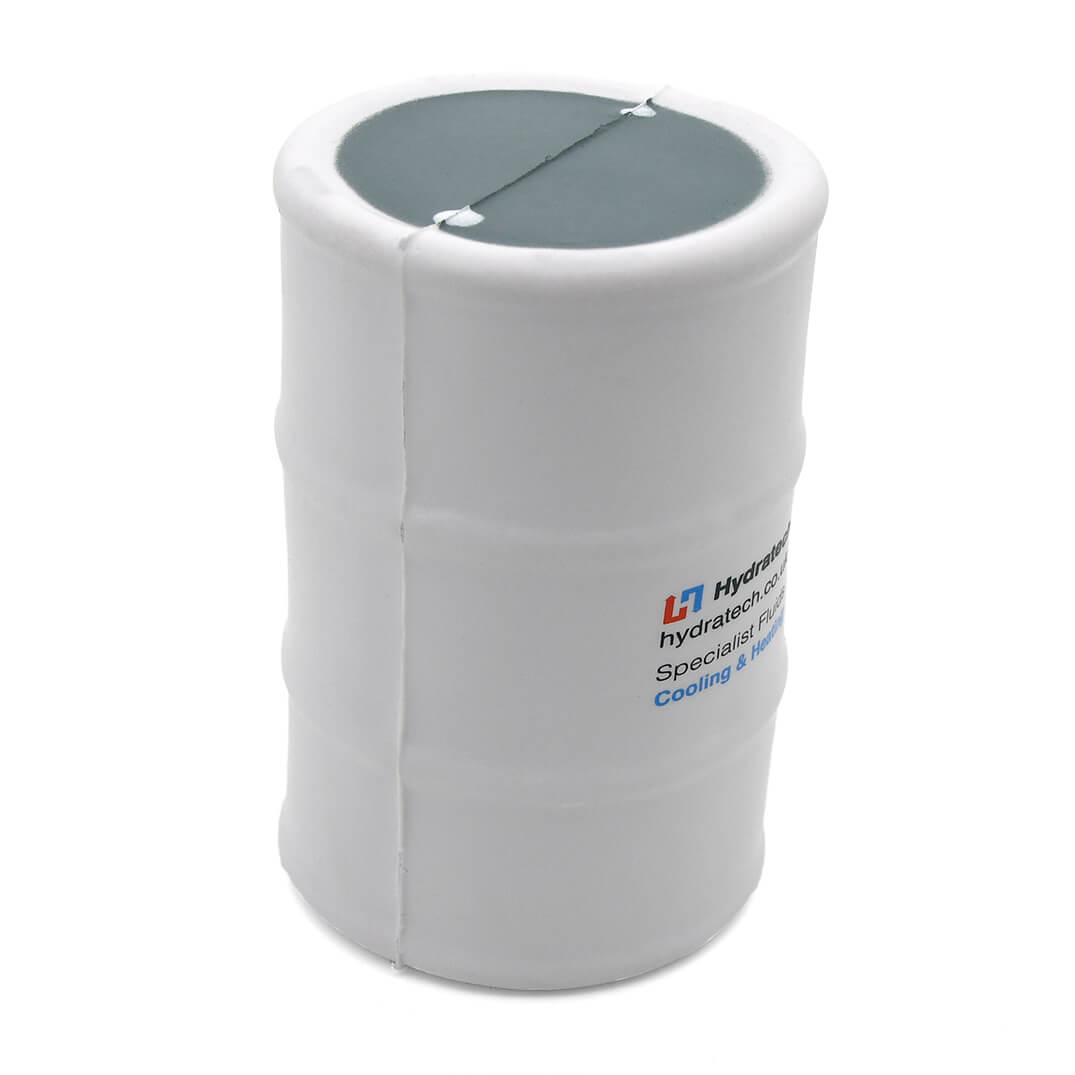 White Oil Drum Stress Ball Side View
