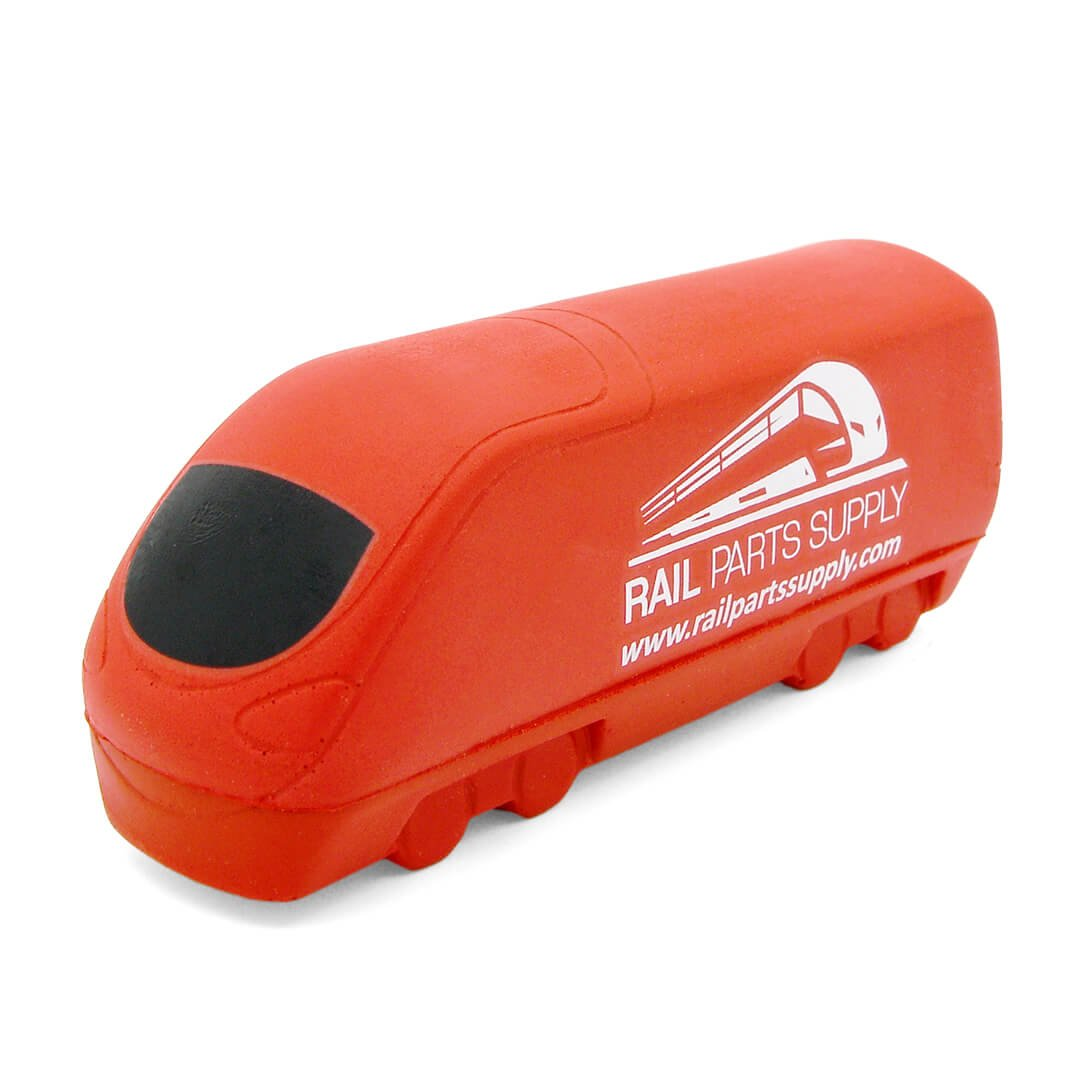 Train Stress Ball Front View in Red