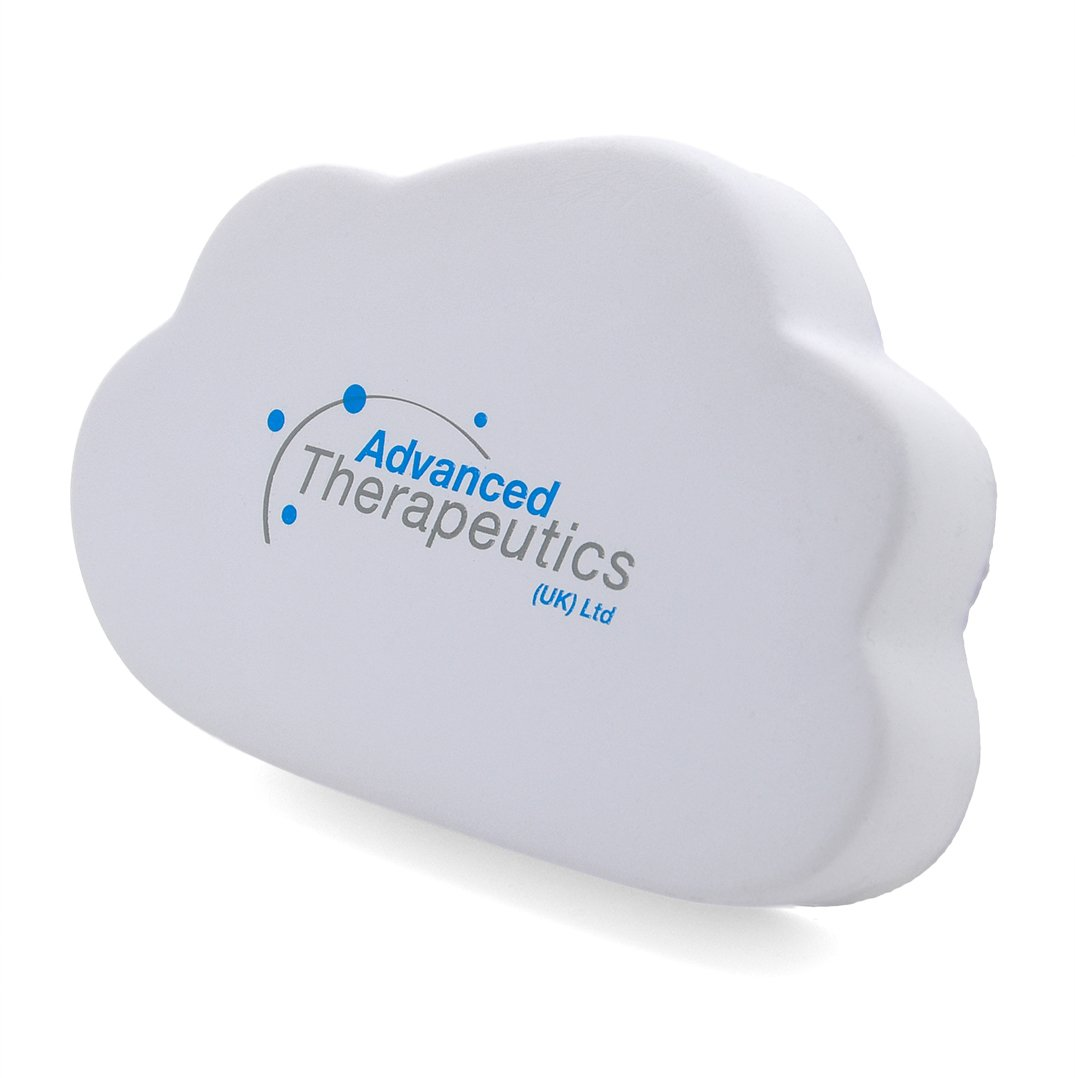 Flat Cloud Stress Ball End View