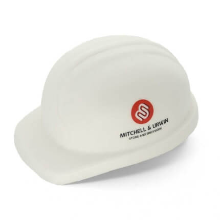 White Stress Hard Hat Side View