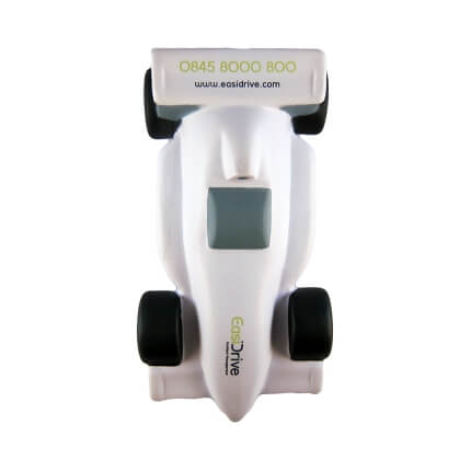 Stress Racing Car White Top View