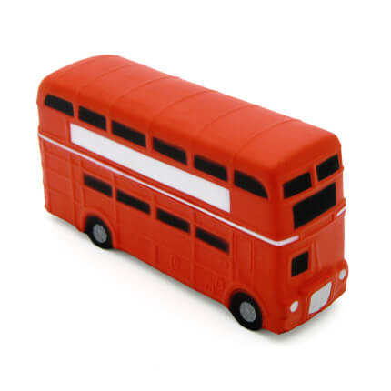 Double Decker London Bus Alternate Side View