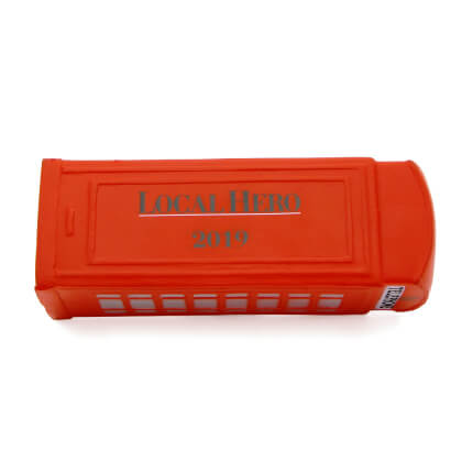 Telephone Box Stress Ball Horizontal View