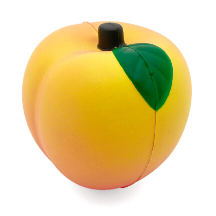 Peach Stress Ball Leaf View