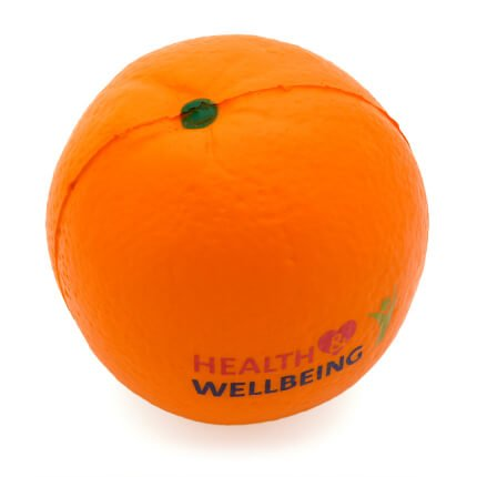 Orange Stress Ball Top View