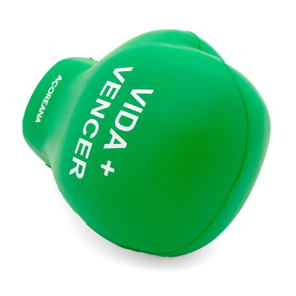 Green Boxing Glove Stress Ball End View